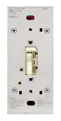 Leviton TGI10-1LI, ToggleTouch Preset Digital 1000W Incandescent Dimmer, Single Pole and 3-Way, Ivory