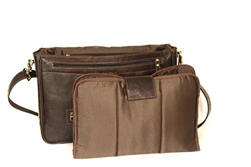 Rowallan große Business- / Laptop- / Aktentasche Collegetasche XXL echtes Leder M2126