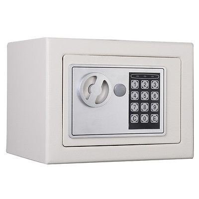 小型デジタル電子セーフボックスキーパッドロックホームホテルオフィスガン新しいホワイト B019V3R1RG