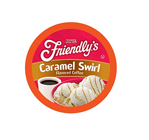 Carmel Pump - Friendly's Caramel Swirl Flavored Coffee for Keurig K Cup Brewers 40Count