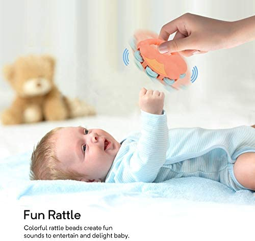 Gizmovine 10pcs Baby Toys Rattles Set, Infant Grasping Grab Toys, Spin Shaking Bell Musical Toy Set Early Educational Toys with Storage Box for Toddler Newborn Baby 3, 6, 9, 12 Month    Product Description