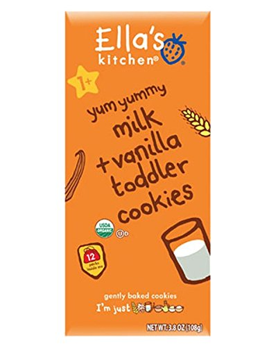 Ella's Kitchen 2 Toddler Cookies - Milk & Vanilla - 3.8 oz
