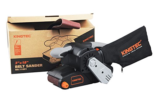 KINGTEC 6.5A Belt Sander, 3 in. x 18 in. - with 2pcs Sanding Belt, Dust Bag, 6 FT Cord Length, KT11001 (3''x18'') for DIY use by KINGTEC (Image #1)
