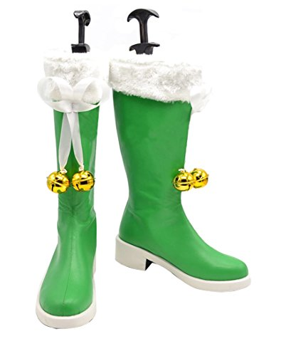 Zunpeng Date A Live Yoshino Cosplay Boots Halloween Green Shoes (9.5 US Female, -