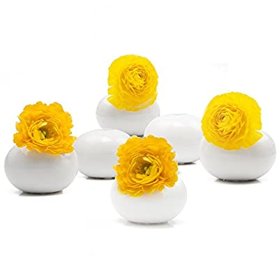 """Chive - Jojo Small 3"""" Ceramic Flower Vase, Decorative Modern Vase for Home Decor Living Room Centerpieces and Events - Wholesale Bulk 6 Pack"""