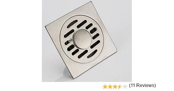 ICT Ronix 100 x 100 mm desagüe para suelo de ducha de acero inoxidable baño suelo desagüe ducha desagüe para canaleta para canalón Manguera Conector: Amazon.es: Bricolaje y herramientas