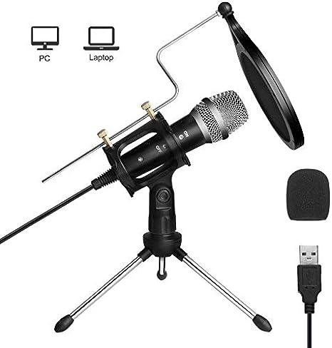 Micrófono USB ARCHEER Micrófono de computadora de grabación para ...