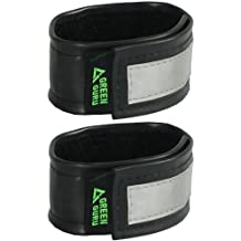 Recycled Bicycle Tube Reflective Pant Leg Straps by Green Guru Gear