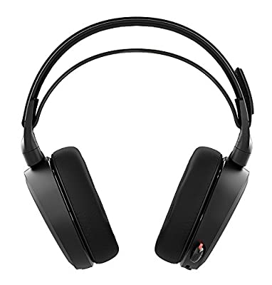 SteelSeries Arctis 7 Lag-Free Wireless Gaming Headset with DTS Headphone:X 7.1 Surround for PC, PlayStation 4, VR, Mac and Wired for Xbox One, Android and iOS - Black (Certified Refurbished)