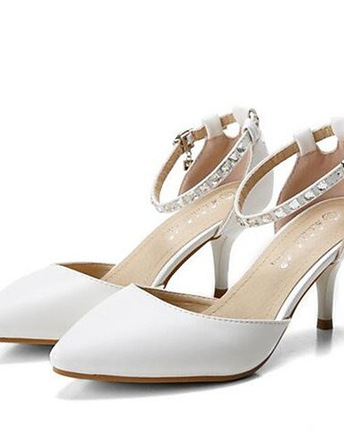 ZQ Zapatos de mujer-Tac¨®n Robusto-Tacones-Tacones-Casual-PU-Negro / Blanco / Almendra , almond-us5.5 / eu36 / uk3.5 / cn35 , almond-us5.5 / eu36 / uk3.5 / cn35 almond-us6.5-7 / eu37 / uk4.5-5 / cn37