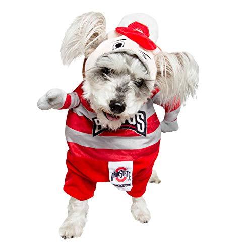 Pet Krewe Ohio State University Brutus The Buckeye Lucky Dog Pet Costume, Medium