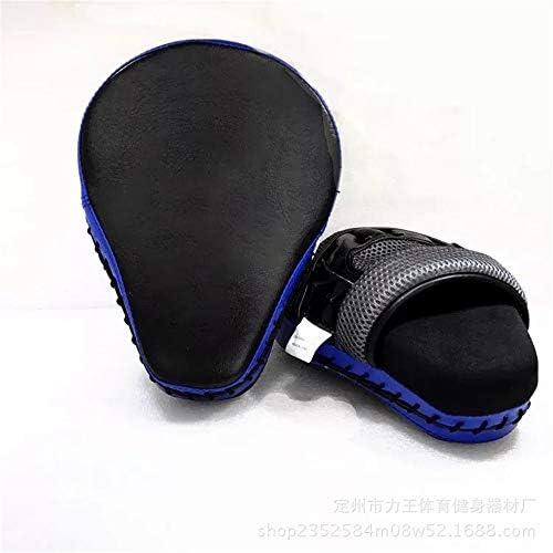 パンチングミット パンチボクシング空手の訓練のための長方形のキックパッドフットフォーカスターゲットパッドストライクシールド (色 : 青, サイズ : 25*23*5.5cm)