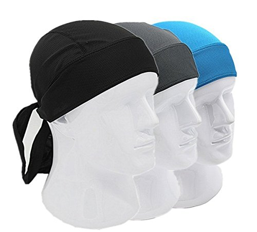 3 Pack Quick Dry Dew Rag Cycling Bandana Chemo Head Warp Headband Beanie Cap