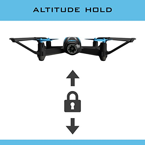 UDI FPV Drone with HD Camera & Altitude Hold - Black - U34W RC Quadcopter Streams Live Video with Real Time First Person View
