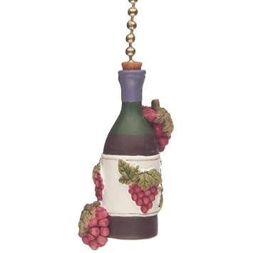 wine bottle ceiling fan pull light chain kitchen themed home decor - Amazon Home Decor