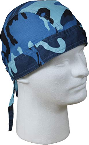 Sky Blue Camo Head Wrap