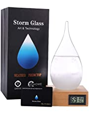 3D HOME Storm Glass Weather Stations Water Drop Weather Predictor Creative Forecast Nordic style Decorative Weather Glass (large)