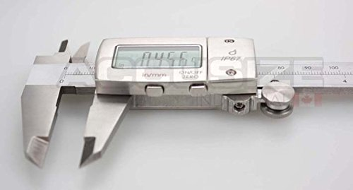 AccusizeTools - IP67, 6'' Water/Oil Proof Electronic Digital Caliper, Metal Cover, Metric/Inch, #1199-W616 by Accusize Industrial Tools (Image #3)
