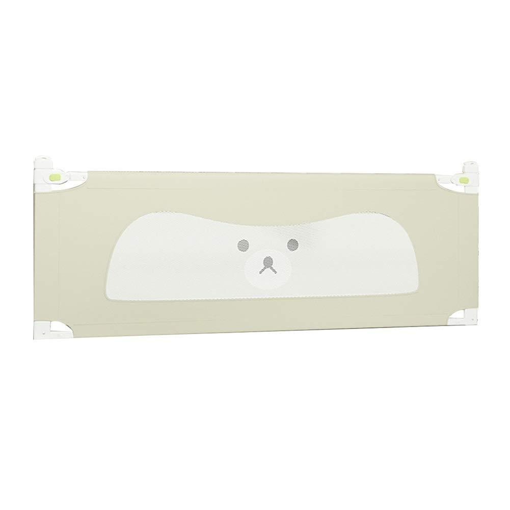KKCF 子供用ベッドフェンス衝突防止コットン垂直方向の上下洗える寝室オックスフォード布 、3色 2サイズ (色 : ベージュ, サイズ さいず : 180cm) 180cm ベージュ B07SD14NRM