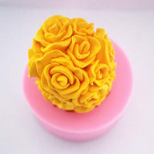 (Silicon Mold - Diy Stereo Rose Silicone Handmade Soap Candle Mold - Votive Lake Handmade Skull Pinecone Pillar Horse Pyramid Light Easter Large Mold Leaf Making Beeswax Bear Rose Christmas)