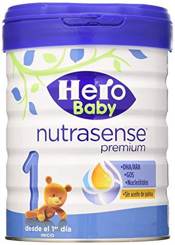 Hero Baby Nutrasense Premium 1 Leche De Inicio En Polvo Para Bebes Hasta Los 6 Meses Crecimiento Y Desarrollo Pack De 2 X 800g