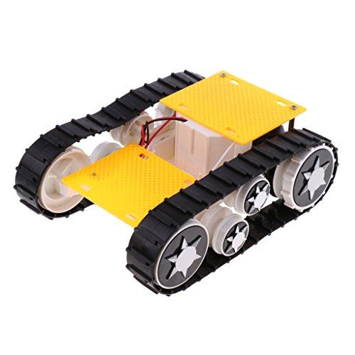 Kesoto DIYロボットキット 科学実験おもちゃ Arduino SN1900用 3-9V ライトショック トランスフォーミングロボットタンク車のシャーシ プラスチック製