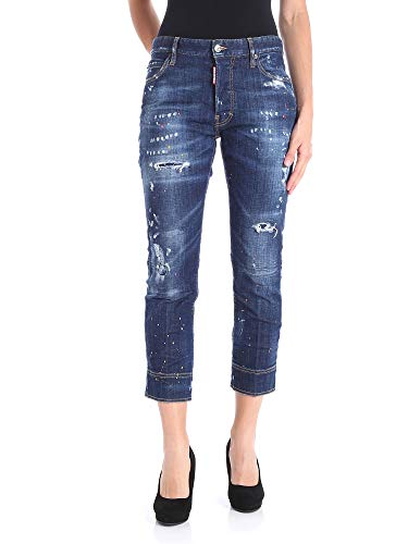 Dsquared2 Femme S72LB0120S30342470 Bleu Coton Jeans