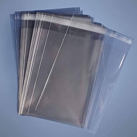 """10x13/"""" Resealable Cellophane OPP Poly Sleeves 1.6 Mil 100 Clear Cello Bags"""
