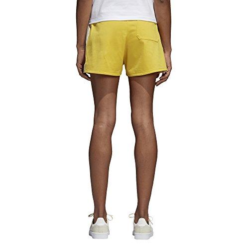 adidas Originals Women's 3 Stripes Shorts Corn Yellow X-Small (Adidas Retro Shorts)