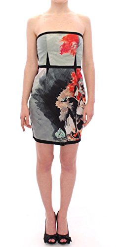 SACHIN & BABI Multicolor Strapless Silk Floral Bubble Mini Shift Dress