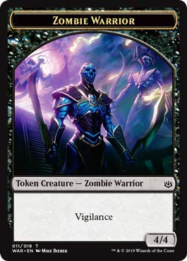 - Magic: The Gathering - Zombie Warrior Token - War of The Spark
