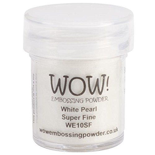 WOW bianco pearl, goffratura,, 5 x 3 x 3 cm WOW Embossing Powder WOW-SF-WE10