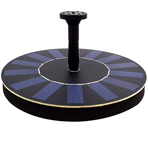 HOPPIC Solar Fountain Free Standing Floating Solar Water Pump with Different Water Patterns for Birdbath(1.4W) by HOPPIC