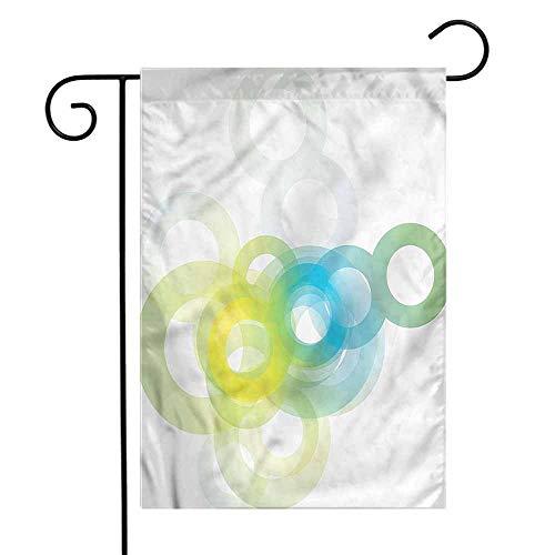 WinfreyDecor Abstract Garden Flag Modern Ombre Circle Premium Material 12