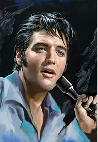 - DIY 5D Diamond Painting by Number Kit for Adult,Full Drill Diamond Painting Elvis Presley,Embroidery Cross Stitch Arts Craft Home Wall Decoration,11.8×17.7in