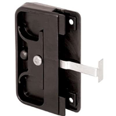 Prime-Line Products 121740 Mortise Style Screen Door Latch and Pull, Black Plastic