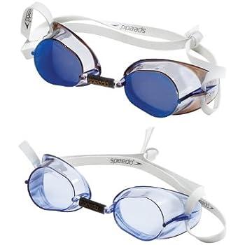 28ad5ee1de Speedo Anteojos para Nadar, suecos, 2 Unidades Azul/Blanco Una Talla