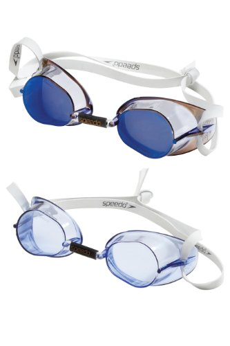 Speedo Swedish Swim Goggle 2-Pack, Blue, One Size