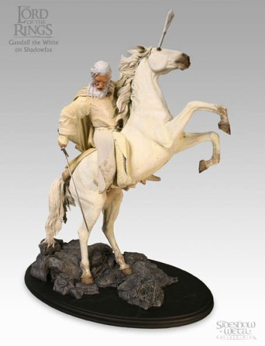 Lord of the Rings LOTR Gandalf on Shadowfax Horse Statue Sideshow Collectibles