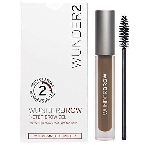 WUNDER2 WUNDERBROW Makeup Waterproof Eyebrow Gel For Long Lasting Eye Brow Make Up, Brunette