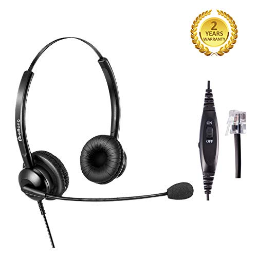 Telephone Headset for Offices Call Center RJ9 Headset with