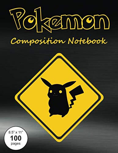 Pokemon Composition Notebook: Large textbook sized wide-ruled paper book for note-taking, journaling and creative writing.]()