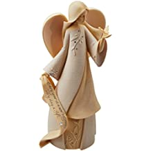 """Foundations June Monthly Angel Stone Resin Figurine, 7.5"""""""