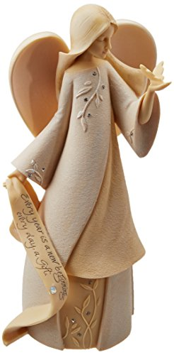 Foundations June Monthly Angel Stone Resin Figurine, 7.5