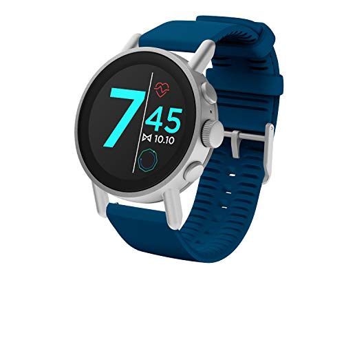 Misfit Vapor X 42mm Stainless Steel with Navy Silicone Strap