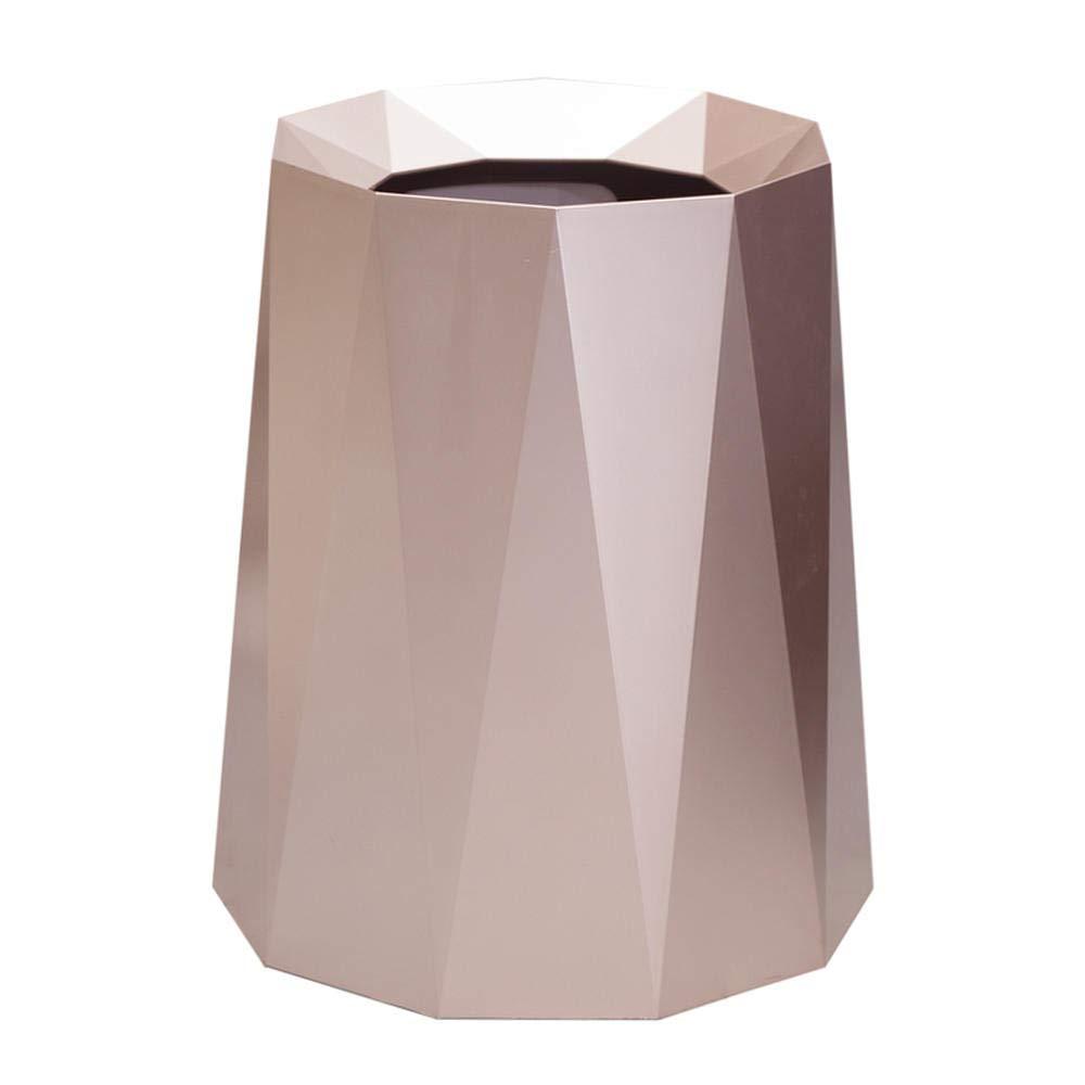 zhongleiss Cubos de Basura Sal/ón Papelera Papelera de Gama Alta habitaci/ón sin Cubierta de Papel higi/énico Engrosamiento Papelera Rosa de Oro