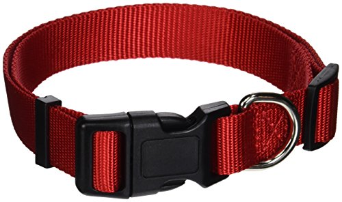 ASPEN PET PRODUCTS 20806 Nylon Adjustable Collar, 16 to 26-Inch, Red Aspen Pet Adjustable Dog Collar