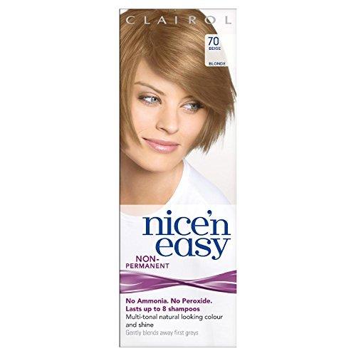 Clairol Nice n' Easy Hair Color #70, Beige Blonde (Pack of 3) UK Loving Care (Best Natural Hair Dye Uk)