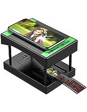 Rybozen Mobiele Film en Slide Scanner, FILM naar JPEG, Converteert 35mm Dia's & Negatieven in digitale foto's met uw Smartphone Camera, LED Verlichte Bekijken, Opvouwbaar