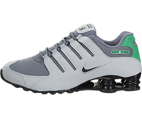 Nike Mens Shox NZ SE Shoe Wolf Grey/Stadium Green/Cool Grey 8.5 D(M) US